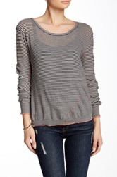Inhabit Twisted Scoop Neck Tee Gray