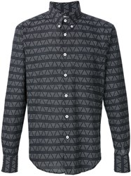 Naked And Famous Naked And Famous Triangle Print Shirt Black