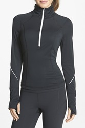 Zella 'My Run Layer' Half Zip Top Black
