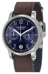 Brooks Brothers 'Red Fleece' Chronograph Leather Strap Watch 42Mm