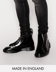 Dr. Martens Dr Martens Made In England Classic Les Lace Up Boots Black