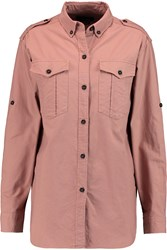 Isabel Marant Benton Cotton Shirt Pink