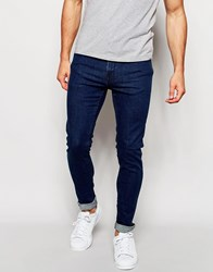 Only And Sons Vintage Wash Jeans In Skinny Fit Blue
