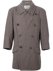 Issey Miyake Vintage Double Breasted Coat Grey