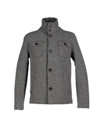 Tanomu Ask Me Coats And Jackets Coats Men Grey
