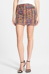 Sam Edelman Embroidered Miniskirt Blue