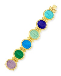 19K Large Oval Venetian Glass Bracelet Elizabeth Locke