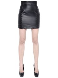 Balmain Quilted Nappa Leather Skirt