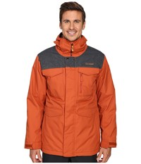 Burton Mb Covert Jacket Picante Denim Men's Coat Orange