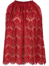 Lanvin Lace Top Red