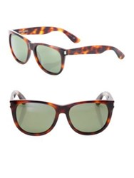 Saint Laurent 54Mm Tortoise Round Sunglasses Havana