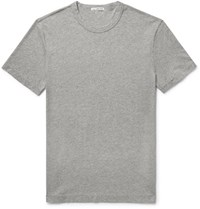 James Perse Melange Cotton Jersey T Shirt Light Gray