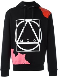 Mcq By Alexander Mcqueen Abstract Glyph Icon Print Hoodie Black