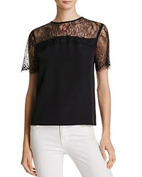 Cami Nyc Amber Silk Tee Black