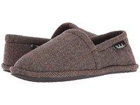 Woolrich Chatham Chill Tweed Wool Men's Slippers Brown