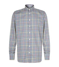 Turnbull And Asser Grid Checked Shirt Male Multi