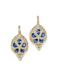Temple St. Clair 18K Gold Sea Biscuit Earrings With Blue Sapphire And Diamonds Blue Gold