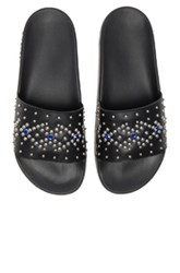 Givenchy Studded Slide Sandals In Black