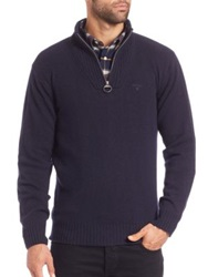 Barbour Essential Half Zip Up Sweater Navy