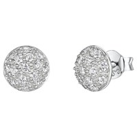 Jools By Jenny Brown Pave Set Cubic Zirconia Stud Earrings Silver
