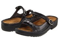 Naot Footwear Kyra Midnight Black Leather Women's Slide Shoes