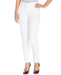 Jones New York Signature Petite Skinny Jeans White