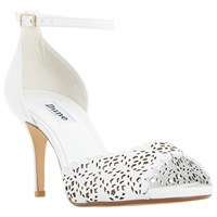 Dune Mylene Cut Out Stiletto Sandals White