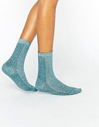 Gipsy Sparkle Socks Teal Blue