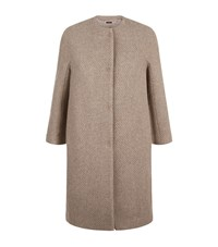 Peserico Asymmetrical Woven Coat Female Gold