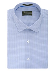 Kenneth Cole Slim Fit Textured Check Non Iron Dress Shirt Cadet Blue