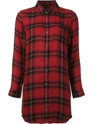 Obey Checked Shirt Red