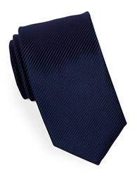 Hugo Narrow Striped Silk Tie Navy