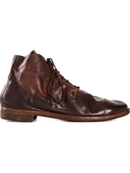 Guidi Distressed Desert Boots Brown