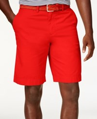 Tommy Hilfiger Men's Core Classic Fit Chino Shorts La Jolla Red