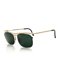 Christian Lacroix Vintage Brow Bar Sunglasses Gold