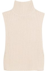 Autumn Cashmere Cropped Knitted Turtleneck Top Blush