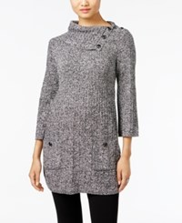 Styleandco. Style Co. Turtleneck Tunic Sweater Only At Macy's Black Warm Ivory