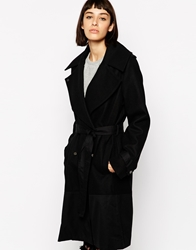 Religion Belted Violent Coat Jetblack