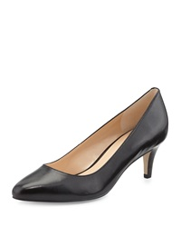 Cole Haan Lena Low Heel Leather Pump Black