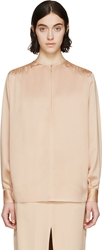 Stella Mccartney Pink Satin Crepe Blouse