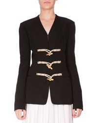 Altuzarra Toggle Front Wool Jacket Black Women's Size 32