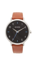 Nixon Arrow Leather Watch Black Brown