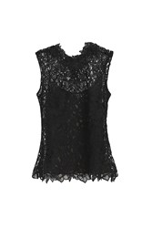 Oscar De La Renta Couture Lace Blouse Black