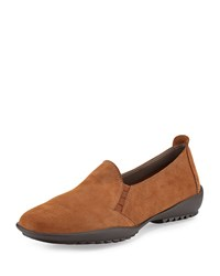 Sesto Meucci Angy Textured Suede Loafer Brown