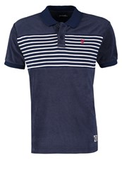 Desigual Tower Polo Shirt Azul Tinta Dark Blue