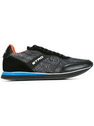 Etro Abstract Pattern Sneakers Black