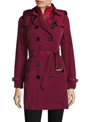 Burberry Churchdale Trench Coat And Quilted Gilet Garnet