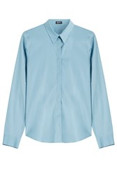 Jil Sander Navy Cotton Shirt Blue