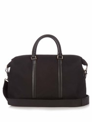 Paul Smith Leather Trim Canvas Briefcase Black