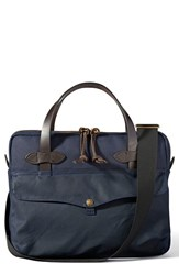 Men's Filson Canvas Tablet Briefcase Blue Navy